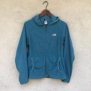 The North Face women's size L teal fleece zip up h